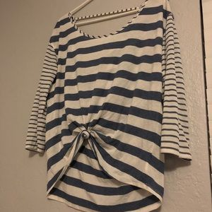 AEO Striped Blouse